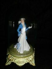 Franklin Mint Gone With The Wind Scarlett's Independence Glass Domed Figurine