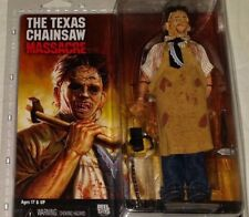 NECA MISP Texas Chainsaw Massacre movie LEATHERFACE retro clothed action figure