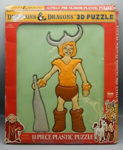 1984 Illco Dungeons & Dragons cartoon BOBBY plastic puzzle w/ original box RARE
