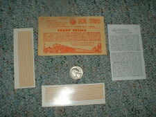 "Champ decals HO Stripes Dulux Gold S-11 3""HO 1 1/2"" O  D70"