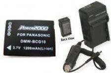 Battery + Charger for Panasonic DMC-ZR1K DMC-ZR1R