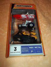 MATCH BOX CONFEZIONE DA 3 PEZZI IN METALLO  cod.728
