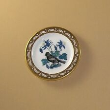 State Birds and Flowers Miniature Mini Plate Colorado Lark Bunting Columbine