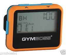 Gymboss Interval Timer and Stopwatch Orange / Blue SOFTCOAT
