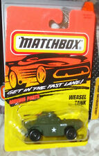 1995 Matchbox Tyco #77 Army Weasel Tank MIP Error Card Set only has 75 vehicles