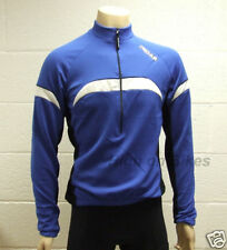 MIDAS Long Sleeve Winter Cycling Jersey - Blue - Medium