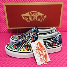 Vans Classic Slip-On Shark Week Women's Skate Shoes Limited Ed Casual Sneakers