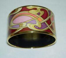 Authentic FREY WILLE Alphonse Mucha Sarah Bernhardt Enamel Diva Bangle MED NIB