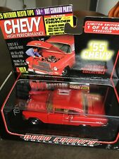 Road Champs 1/43 1955 Chevrolet Bel Air Red Chevy High Performance