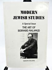 Modern Jewish Studies The Art of Bernard Malamud Queens College 2002 YIDDISH