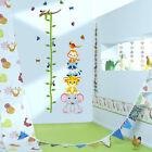Animal Zoo Height Growth Chart Measure PVC Wall Decal Sticker Kids Baby Nursery