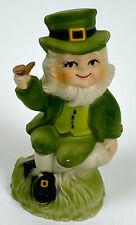 Beautiful Vintage Saint Patricks Day Leprechaun Figurine 40's or 50's