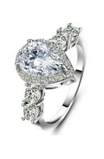 Artificial Diamond Drop Zircon Ring