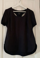 Calvin Klein Black Cut Out On Back Tee Shirt Sz XL