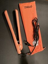"Amika Strand Perfect Ceramic 1"" Inch Hair Straightener Flat Iron Peach/Coral NEW"