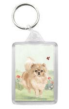 Pomeranian Dog Keyring Keyfob Lovely Image Fun Gift Present Idea