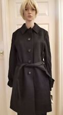 NWT Katherine Kelly 100% Cashmere Ladies Long Coat Black Retail $999 Size 10