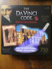 THE DAVINCI CODE: ROSSLYN CHAPEL REVEALED -750 PIECES W/GUIDE BOOK