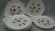 Rare 10 pieces Eva Zeisel mid century Hallcraft Fern salad plates