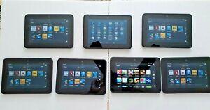 Lot of 7 Amazon Kindle Fire HD 7 2rd Gen 16GB, Wi-Fi, 7in - Black, Model# X43Z60