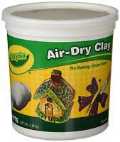 Crayola 57-5055 Air-Dry Clay Resealable Bucket White 5 lb For Kids Age 6 yr Plus