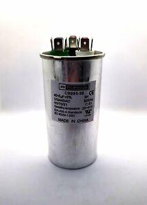 40/5 MFD Round Motor Dual Run Capacitor 40+5 uF 370 440 Volt AC VAC 50/60Hz HVAC