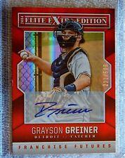 Detroit Tigers Grayson Greiner 2014 Elite Extra Edition Auto Card #221/599