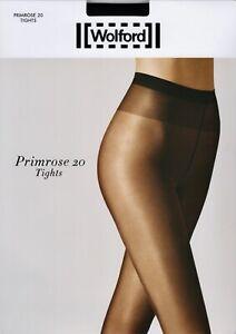 Wolford Satin Touch Primrose 20 Denier STW Tights Pantyhose - Large - Black