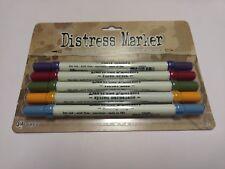 Tim Holtz Distress Cluttered Cellar Marker Set of 5 TDMK34919 Scrapbook Ranger