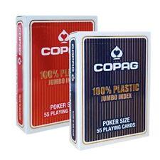 2 jeux de cartes POKER COPAG 100% Plastic JUMBO Index - Remise possible