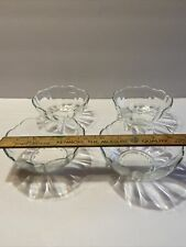 """4 Vintage Arcoroc 4 3/4"""" Soup Cereal Bowl Made In France"""