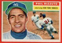 1956 Topps #113 Phil Rizzuto EX+ WRINKLE HOF New York Yankees  FREE SHIPPING