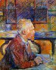 Vincent van Gogh by Toulouse-Lautrec Fine Art Print on Canvas Wall Decor Small