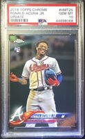 2018 Topps Chrome Update Ronald Acuna Jr Rookie RC PSA 10 RARE HOT Braves #HMT25