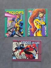 Lot Of (3) Crunch N Munch 2nd Edition Spiderman Jean Gray Cyclops