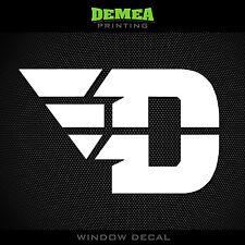 "Dayton - Flyers - D - NCAA - White Vinyl Sticker Decal 5"""