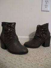 Free People Carrera Gray Woven Leather Boots Size 36