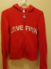 Victoria's secret Love Pink XS mohair red hoodie zipper