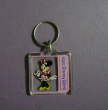 Walt Disney World Lucite Keychain with Minnie Mouse