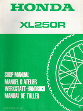 Honda XL250R 1984 Shop Manual