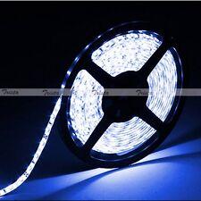 Blue Waterproof 5M 300 Leds 3528 SMD Flexible Strip Light 12V DC Black PCB NEW