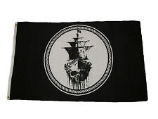 3x5 Jolly Roger Pirate Black Sea Ghost Ship Black Pearl Flag 3'x5' Grommets
