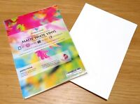 A4 VINYL White Matte Waterproof Self Adhesive INKJET LASER Printable Sticker HQ
