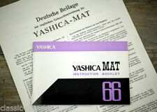 Cámara manual de instrucciones Yashica mat 66 User Manual instrucciones (x5046