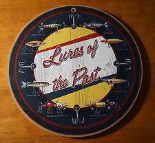 Lake House Decor Sign Lures Of The Past Retro Fisherman Cabin Fishing Bait Lodge