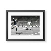 Denis Law Signed Scotland England 1967 Goal Photo Scotland Autograph Memorabilia