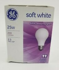 2 pack GE Soft White 25w A19 General Purpose Bulb  210 Lumens 97765 Subtle Light