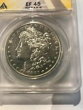 "SCARCE>>1885-s  MORGAN SILVER DOLLAR, ANACS EF45, ""Scarce"" San Francisco COIN"