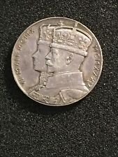 GREAT BRITAIN 25th CORONATION KING GEORGE V 1935 STERLING SILVER 33mm 88# MEDAL