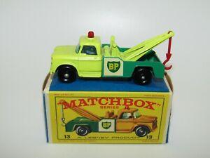 Lesney Matchbox No 13 Dodge Wreck Truck Lemon Yellow VNMIB E2 Box